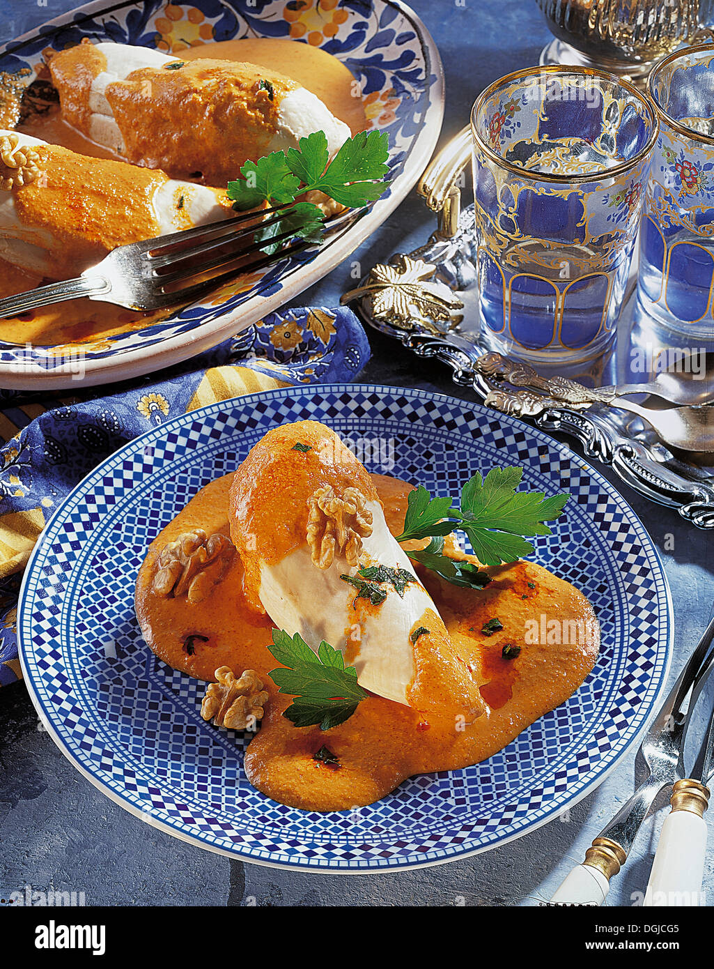 Circassian chicken, Turkey, recipe available for a fee - Stock Image