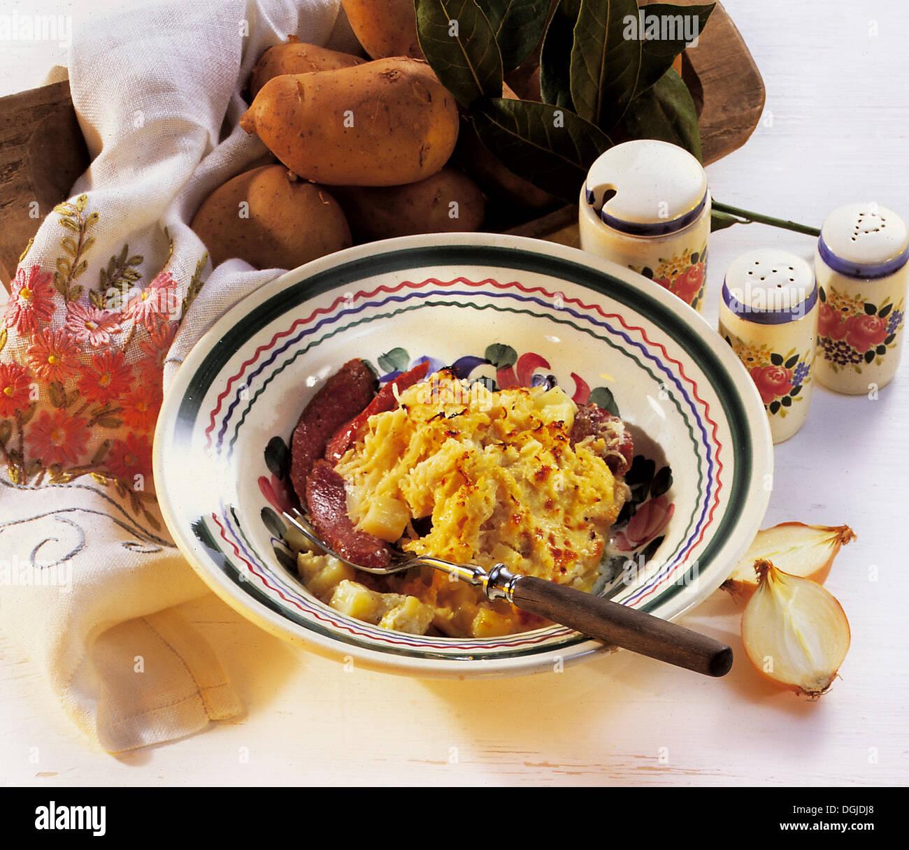 Gratinated sauerkraut, Czech Republic, recipe available for a fee - Stock Image