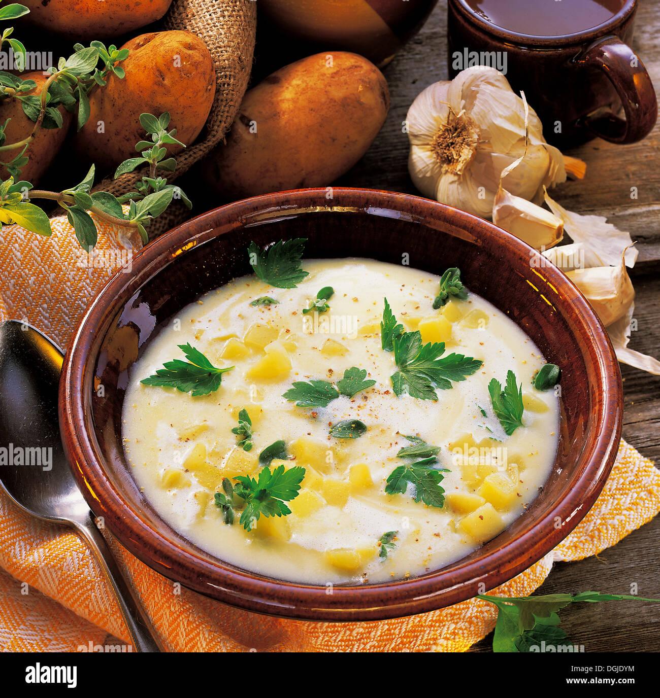 Light Potato Soup, Germany, Recipe Available For A Fee
