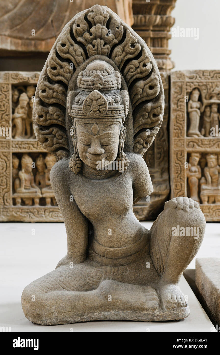 Statue from the Buddhist center of Dong Duong, Cham Museum, Da Nang, Vietnam, Southeast Asia - Stock Image