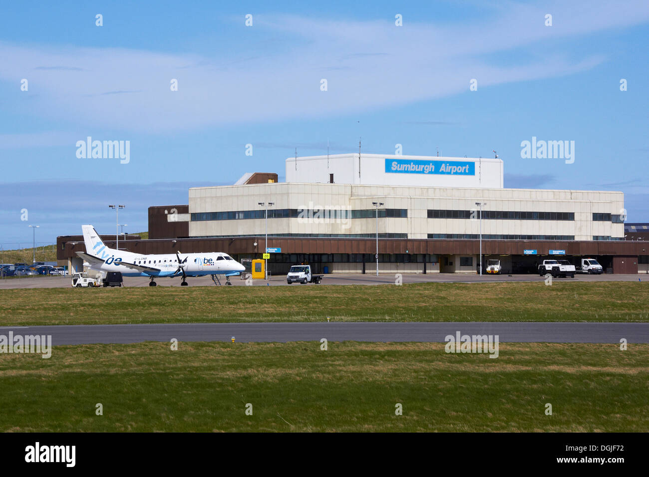 Sumburgh Airport. - Stock Image