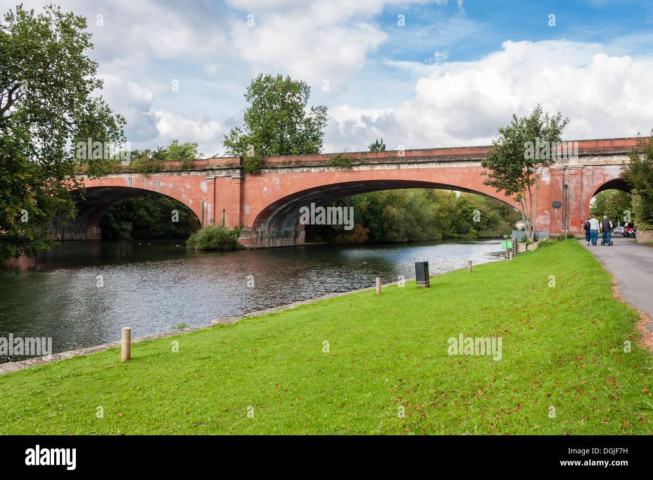 Maidenhead railway bridge, designed by Isambard Kingdom Brunel Stock Photo