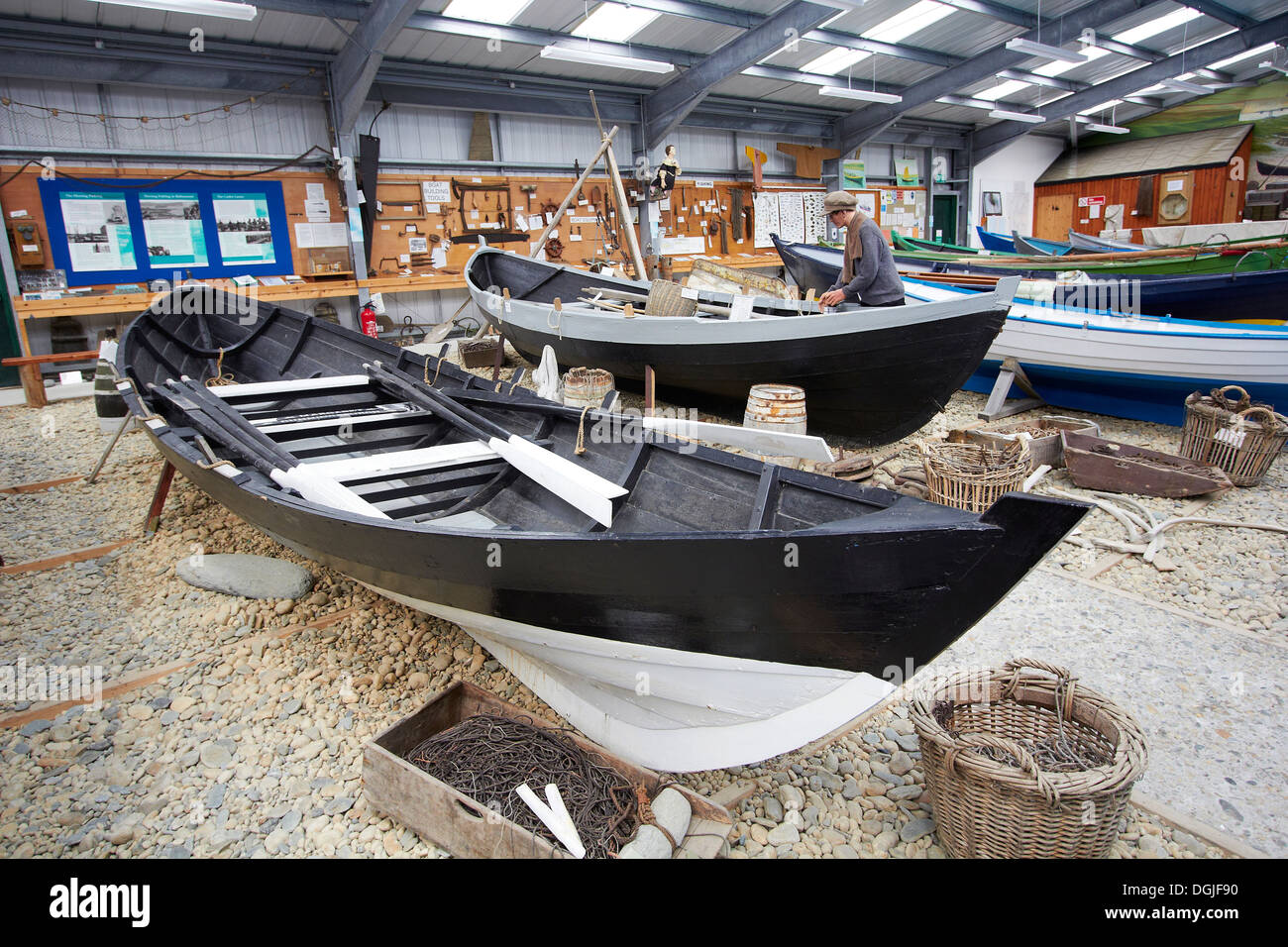 Unst heritage boat museum. - Stock Image