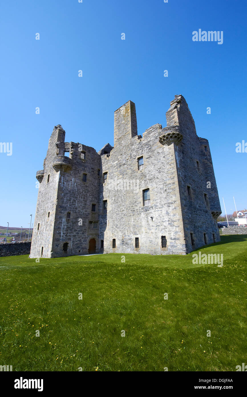 Scalloway Castle. - Stock Image