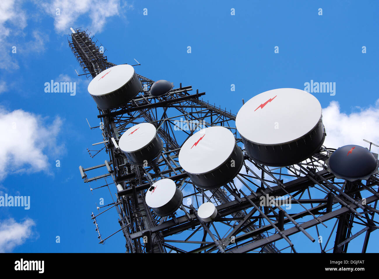 Communications tower. - Stock Image