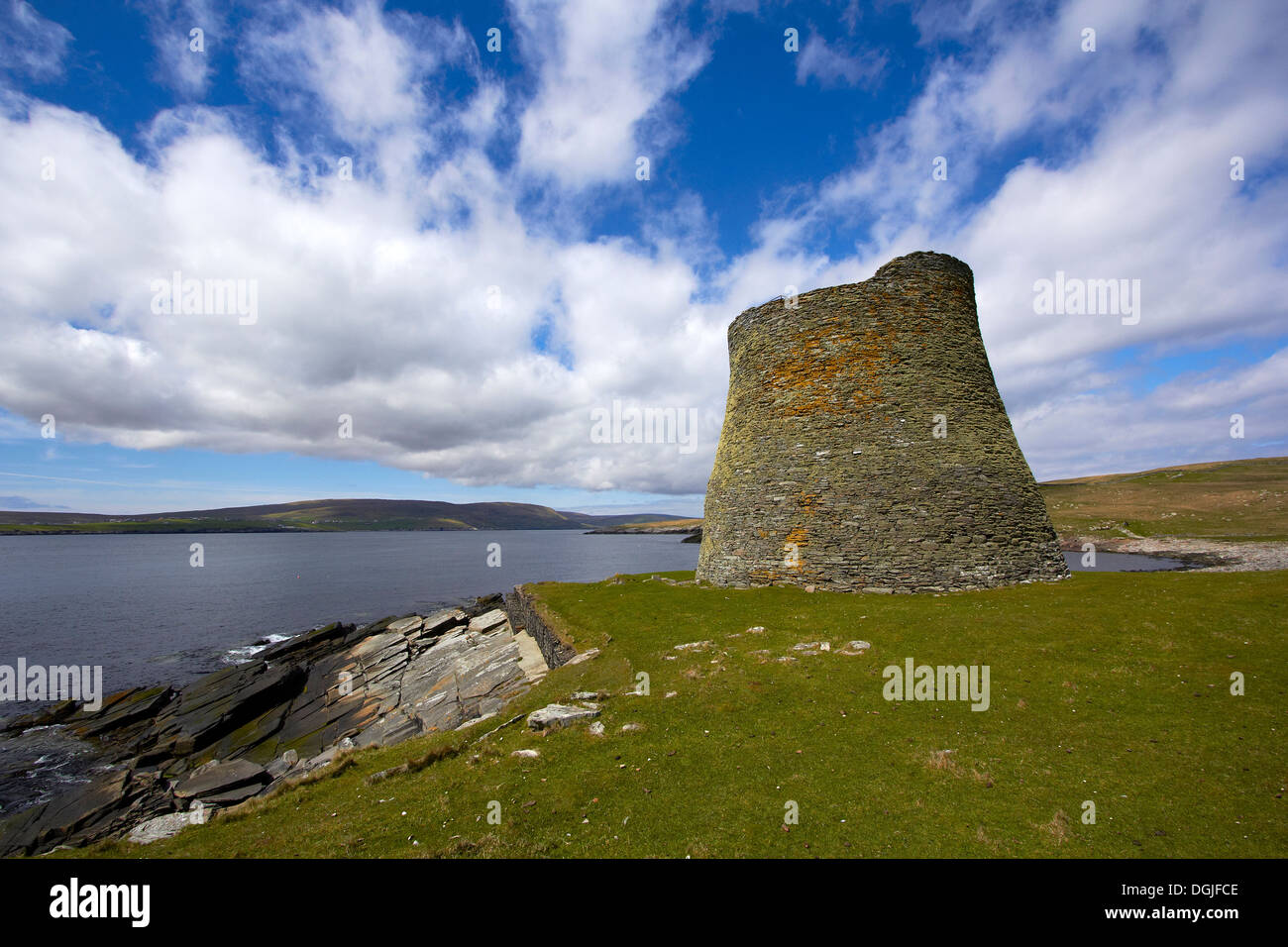 Mousa Broch. - Stock Image