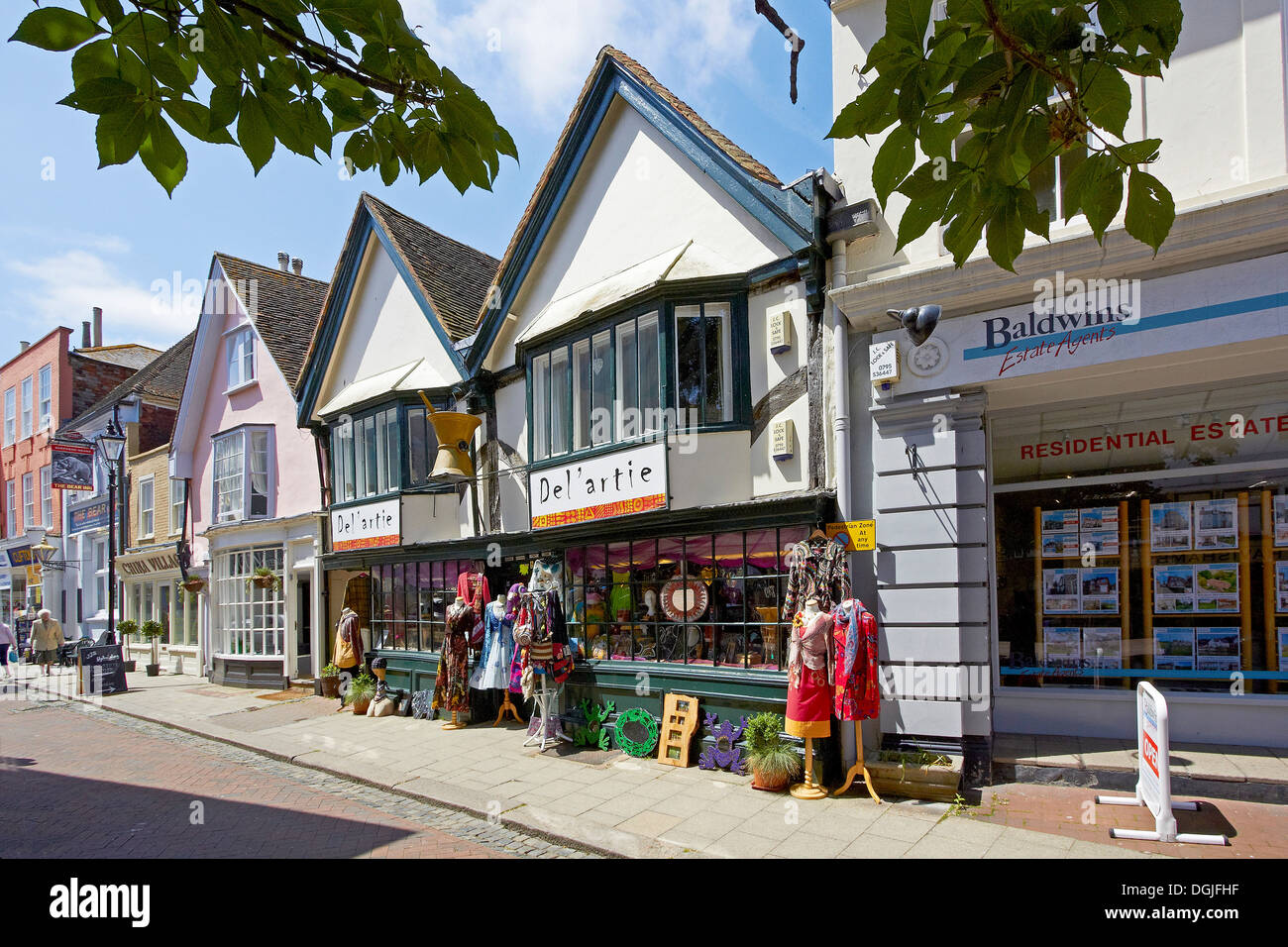 Shops in Faversham. - Stock Image
