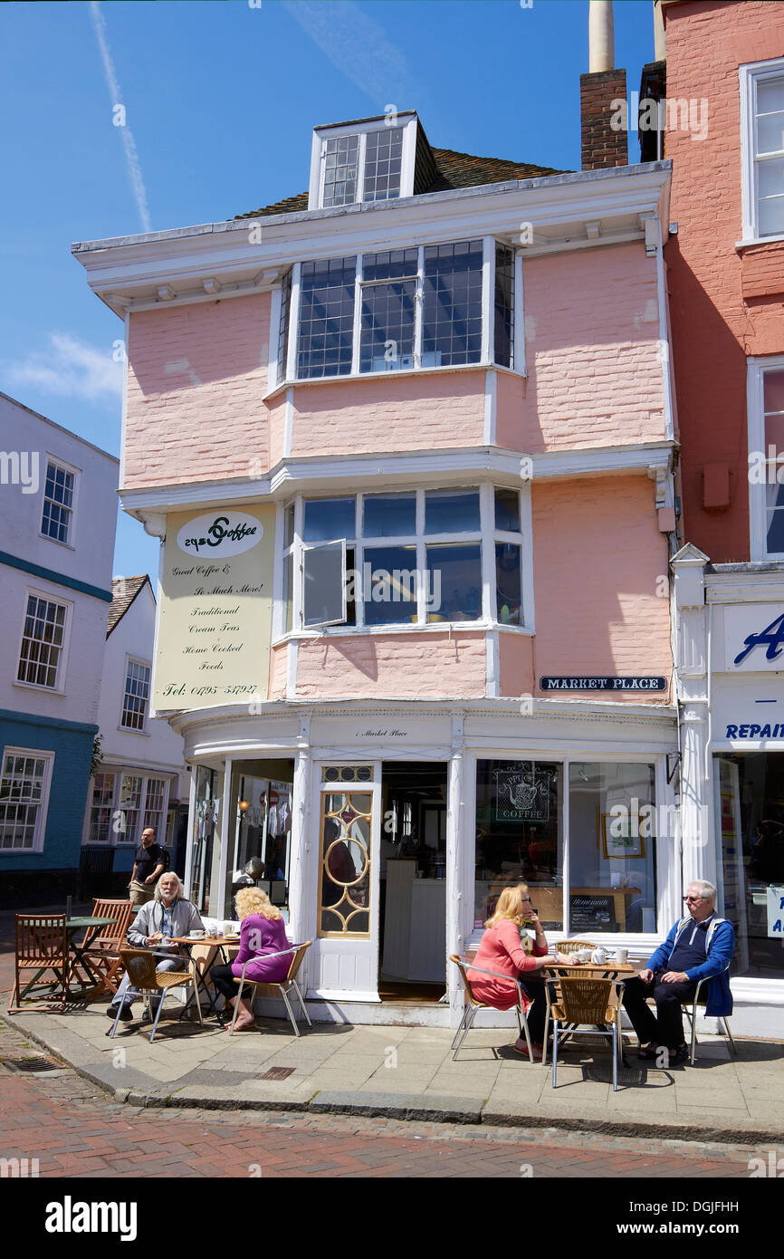 Cafe in Faversham. Stock Photo