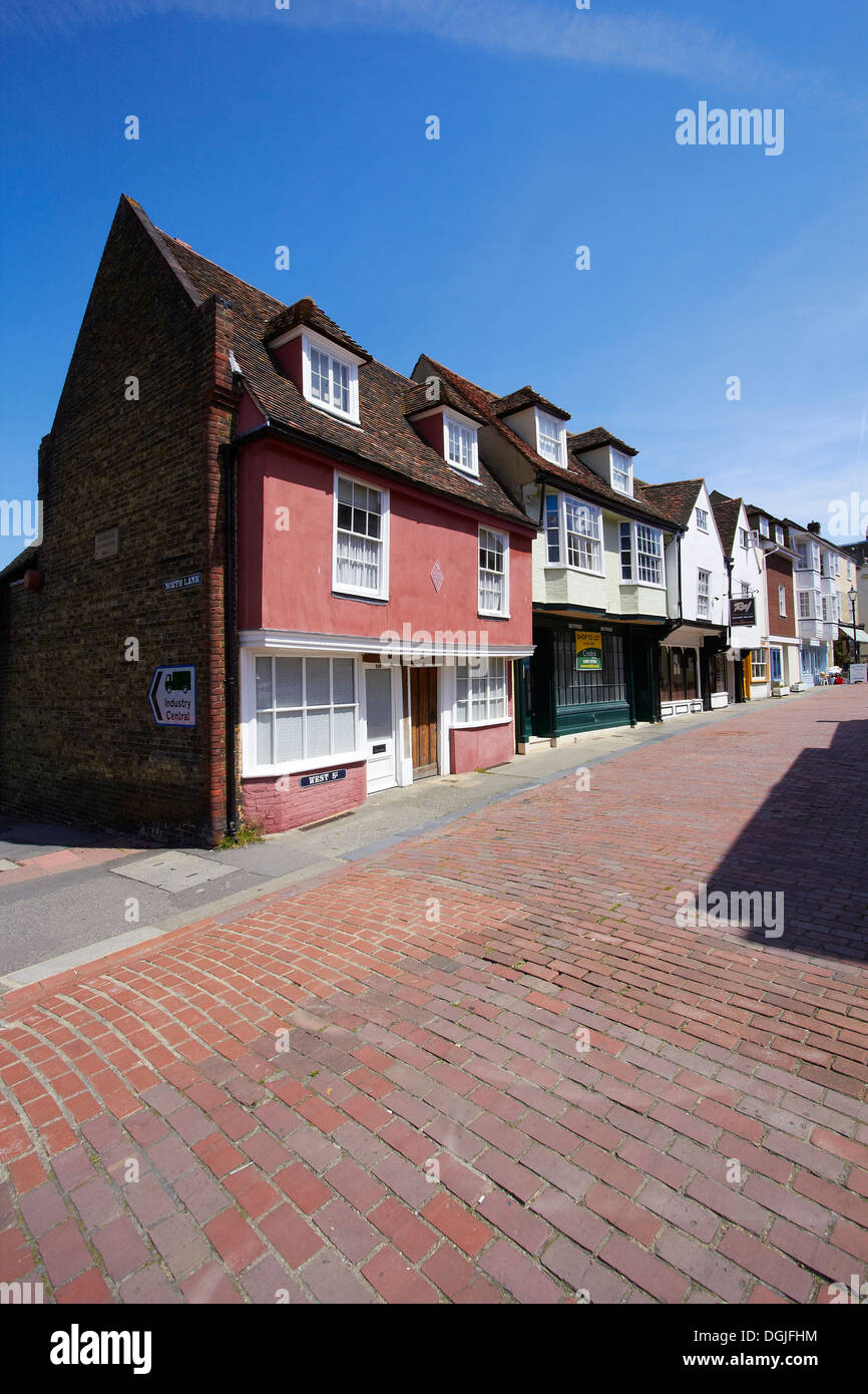 West Street in Faversham. - Stock Image