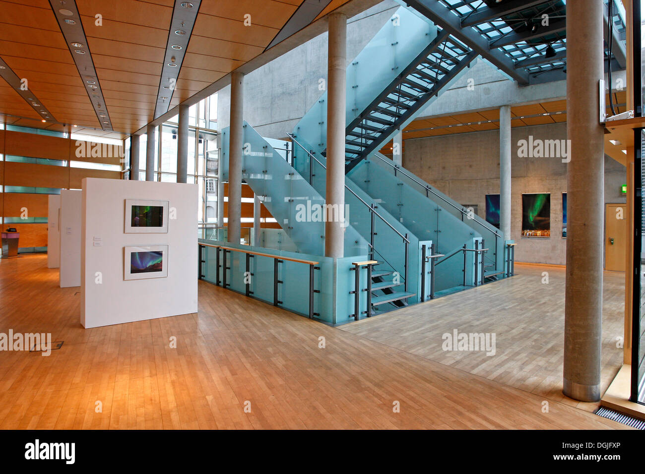 Lobby of the embassies of the Nordic countries, Denmark, Sweden, Norway, Finland, and Iceland, in Berlin - Stock Image