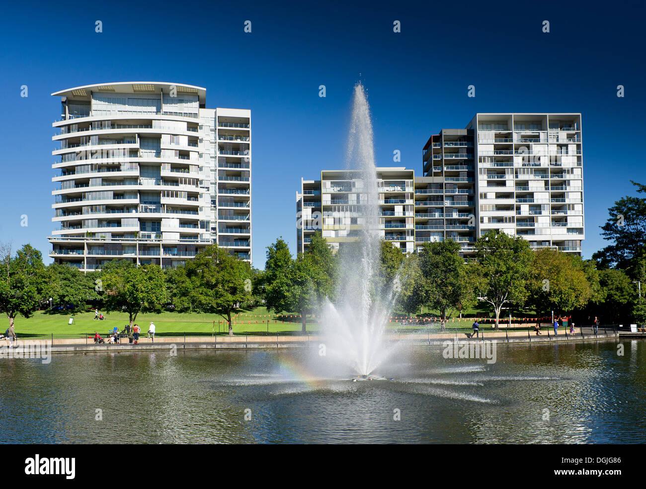 Roma Street Parkland in Brisbane in Queensland. - Stock Image