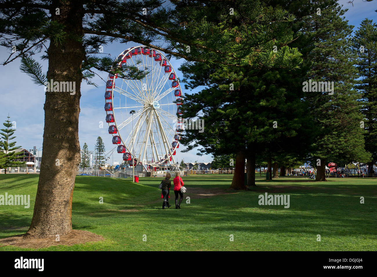 The Skyview Observation Wheel in Fremantle. - Stock Image