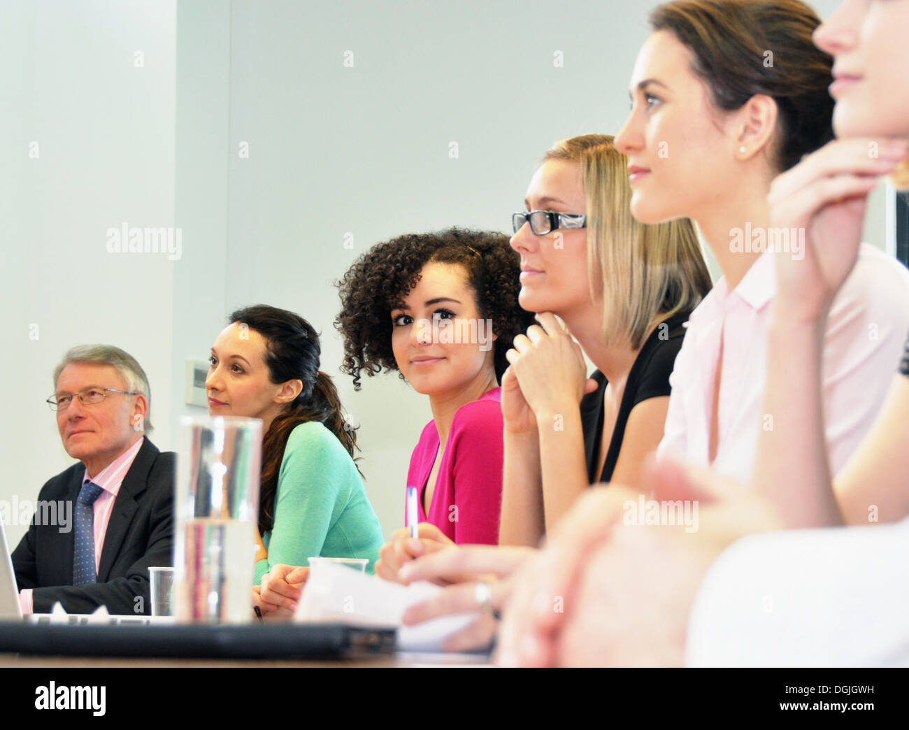 Office colleagues in meeting - Stock Image