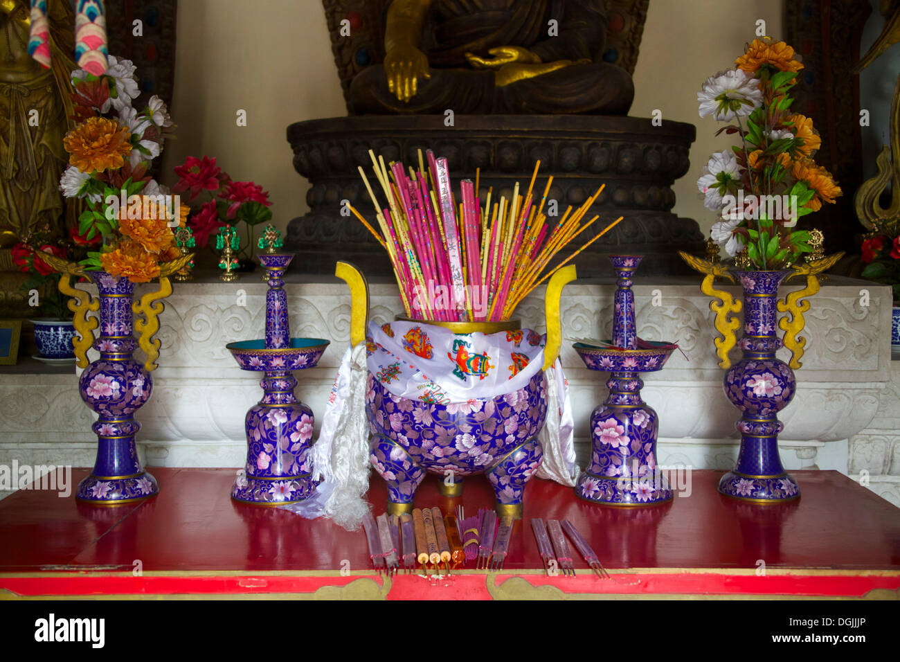 Sacrificial incense sticks, Beihai Park, Beijing, China, People's Republic of China Stock Photo