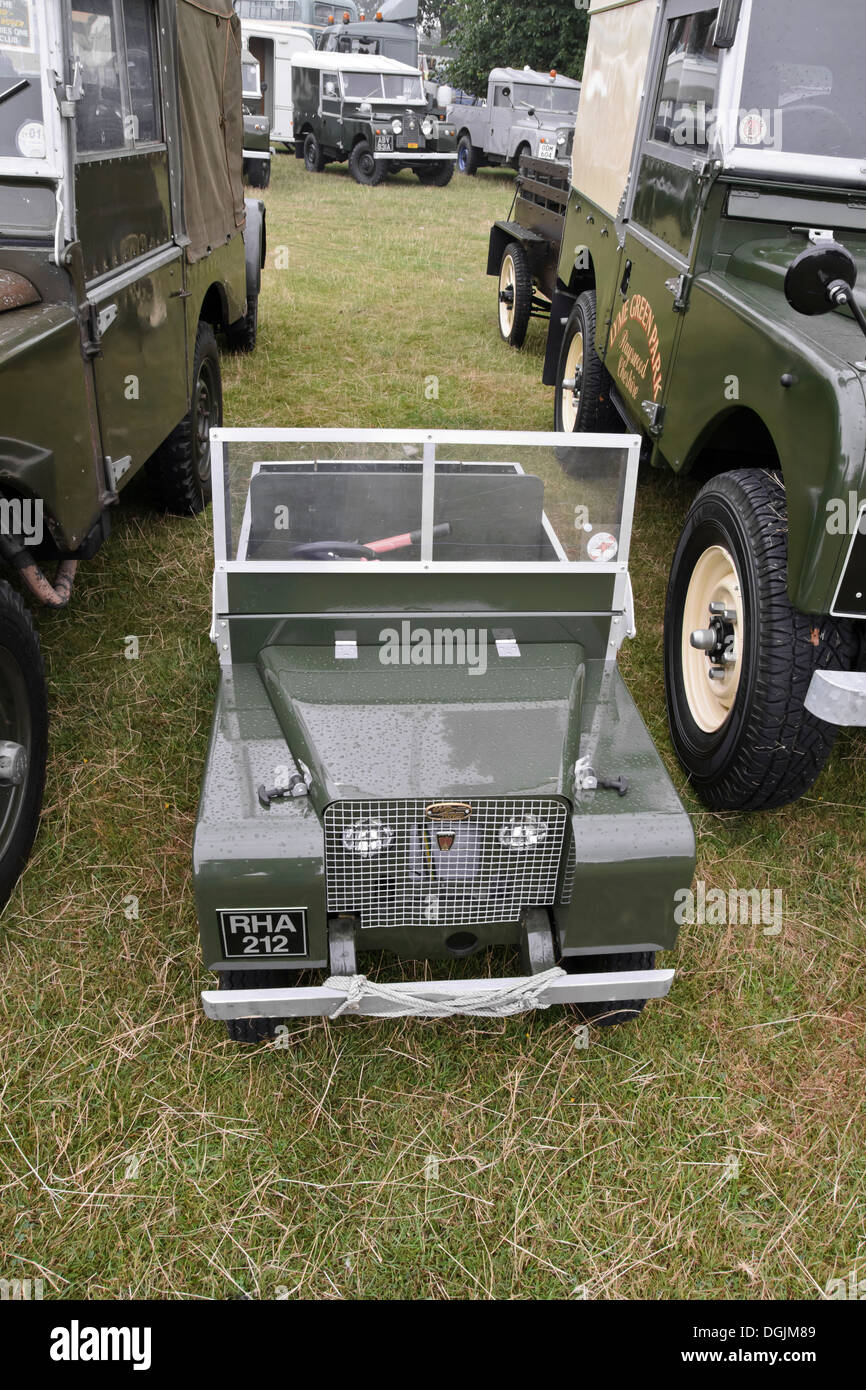 Toy Land Rover Stock Photos Images Alamy Vehicle To Trailer Wiring Australian Owners Replica Landrover Series 1 Model Amongst One Club Display Astle Park Show