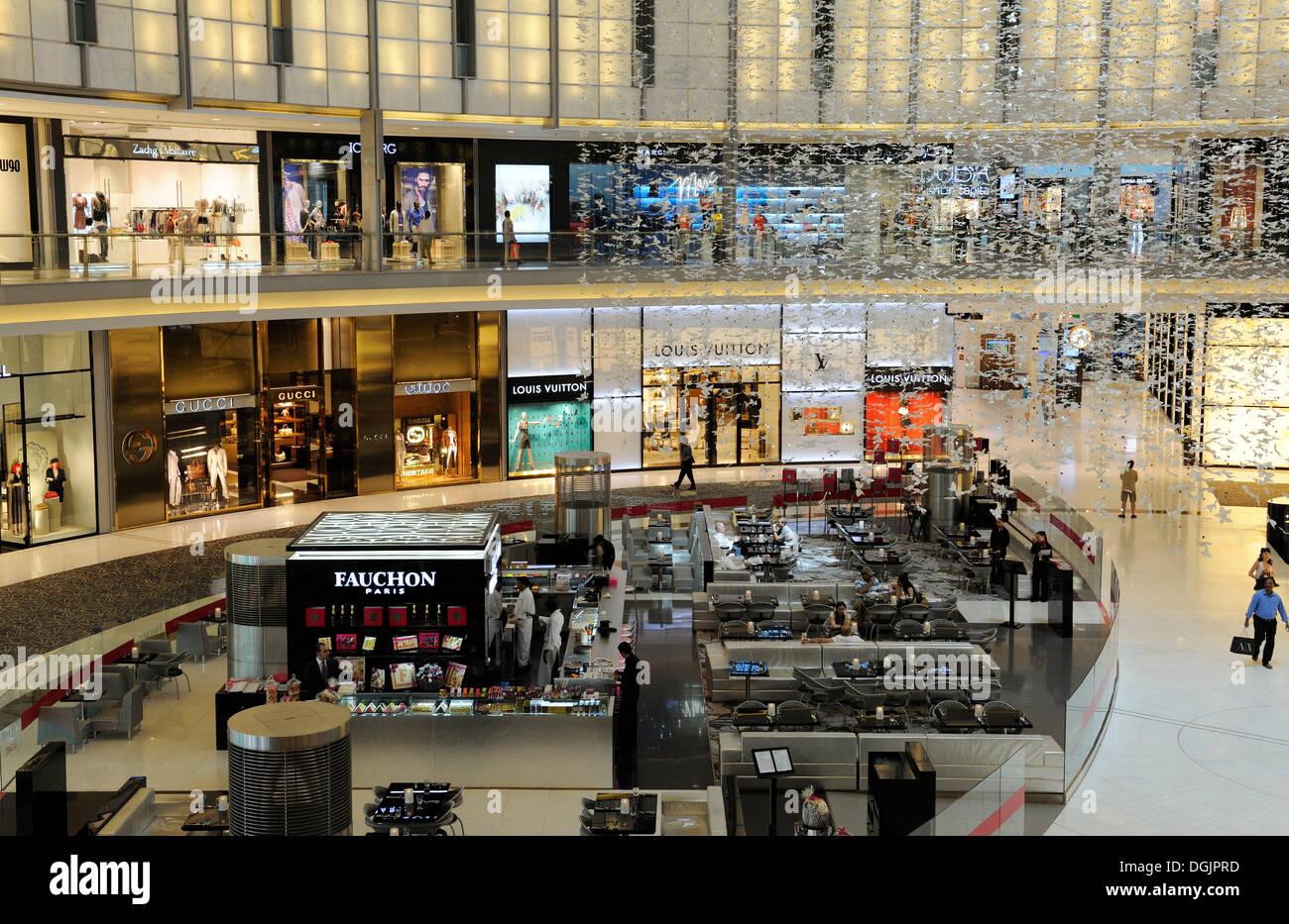 Fashion Avenue, with 70 world brand shops of the Haute Couture, Dubai Mall, Dubai, United Arab Emirates, Middle East - Stock Image