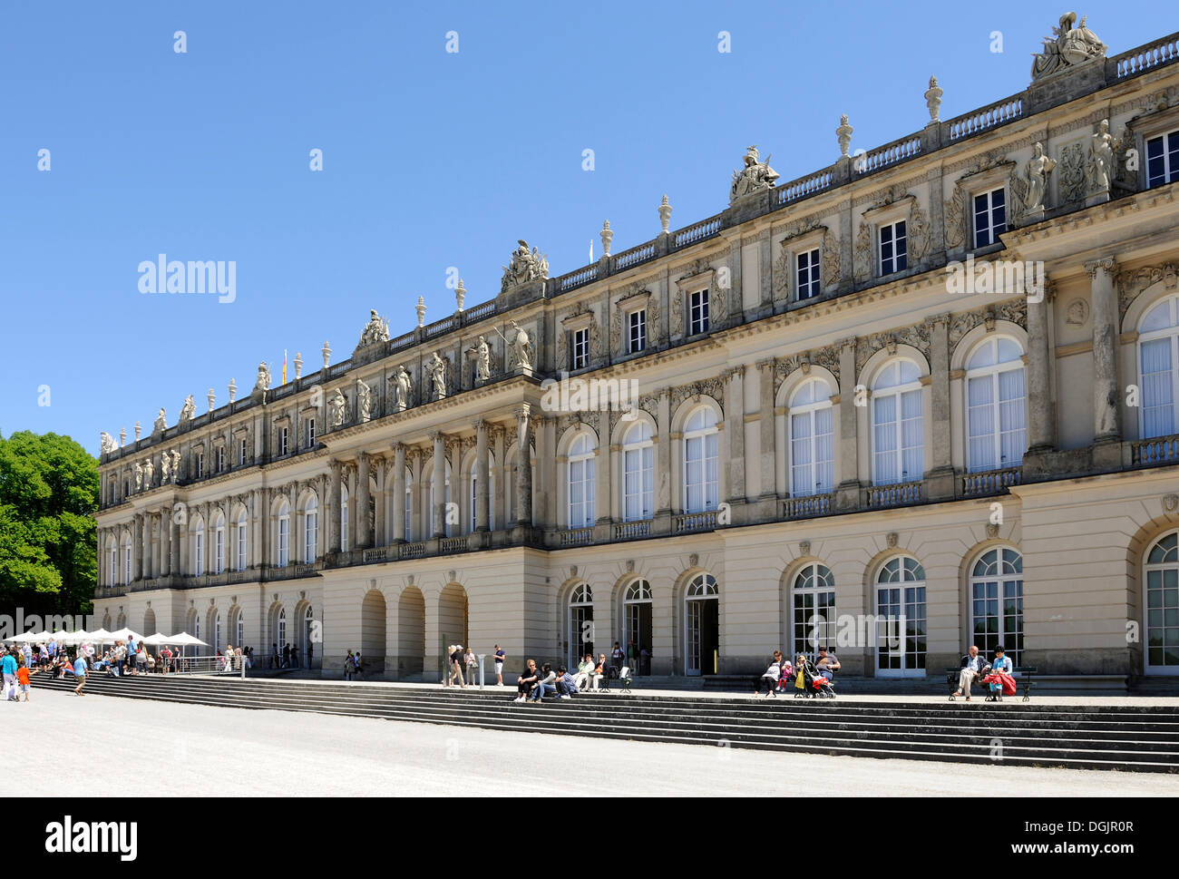 Schloss Herrenchiemsee Palace, Lake Chiemsee, Upper Bavaria, Bavaria - Stock Image