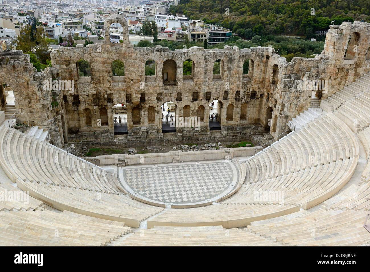 Odeon of Herodes Atticus, Athens, Greece, Europe - Stock Image