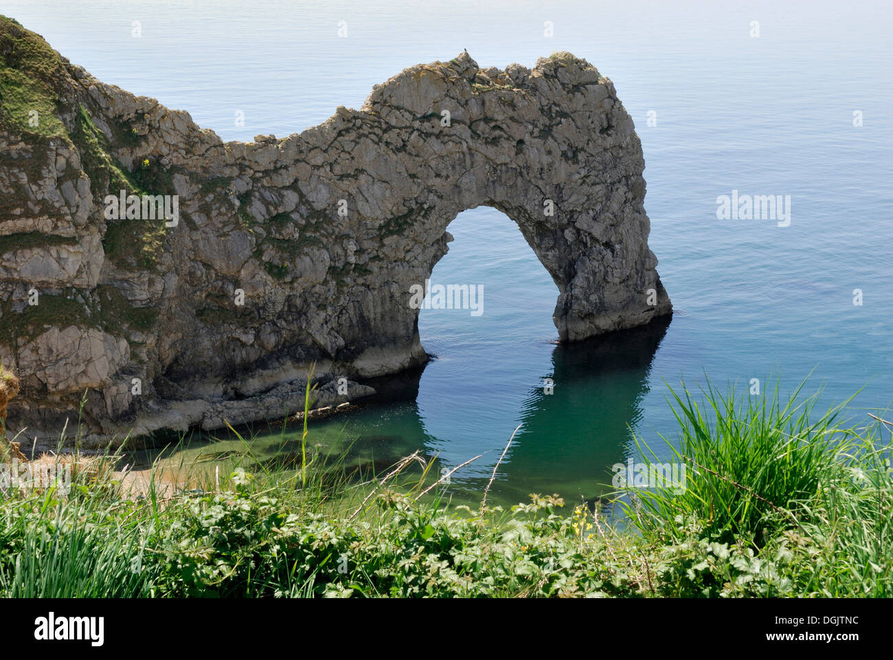 Durdle Door Arch, Lulworth, Dorset, southern England, England, UK, Europe - Stock Image
