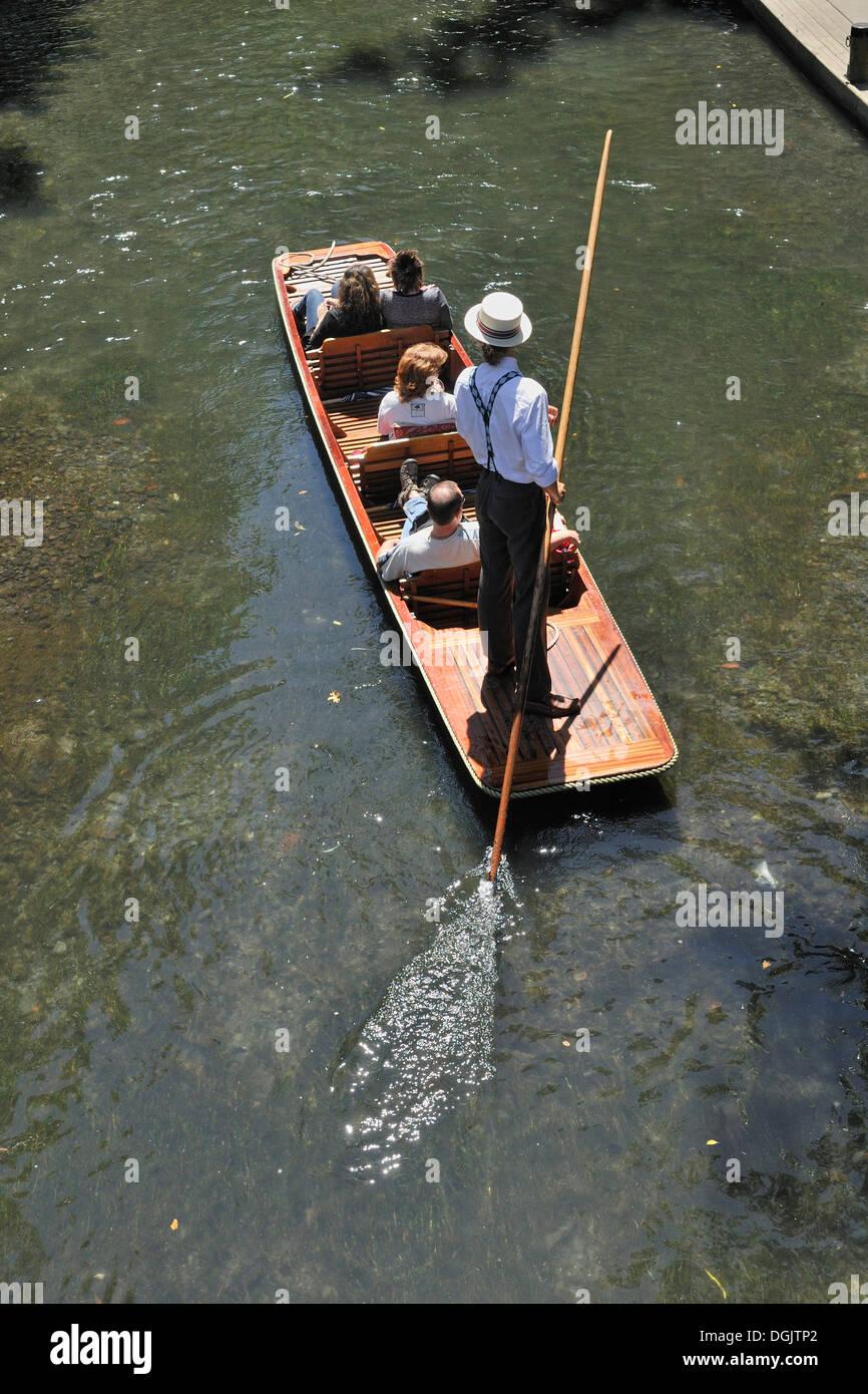 Gondola ride on the River Avon, Christchurch, South Island, New Zealand Stock Photo