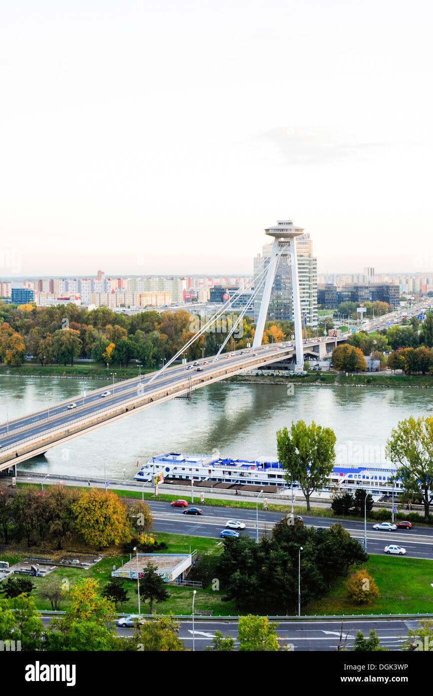 Bratislava, bridge Novi Most, Slovak Republic Stock Photo