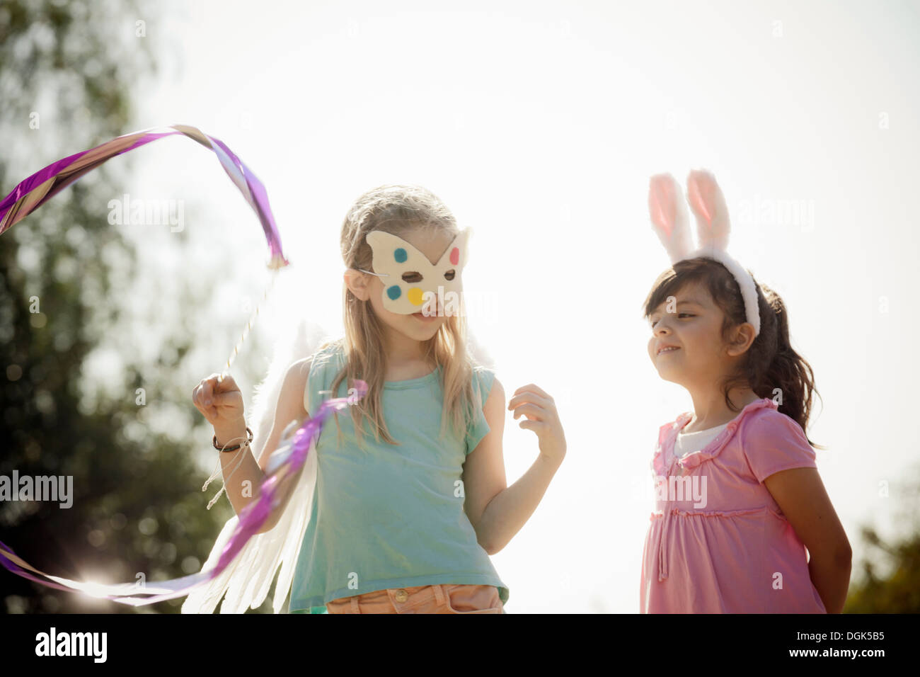 Children in costume play acting - Stock Image