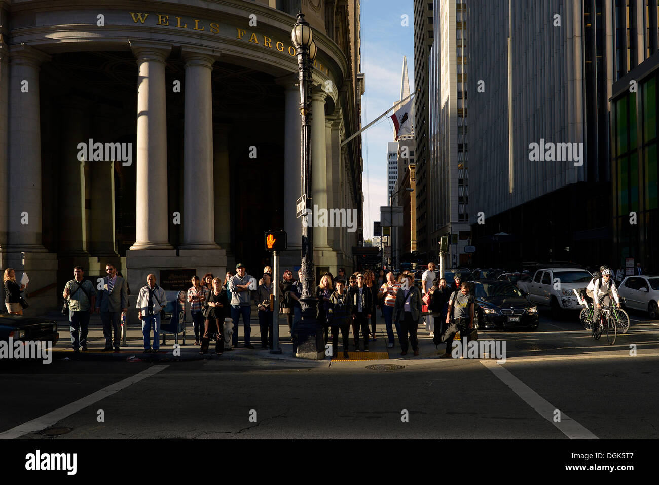 san francisco commuters - Stock Image