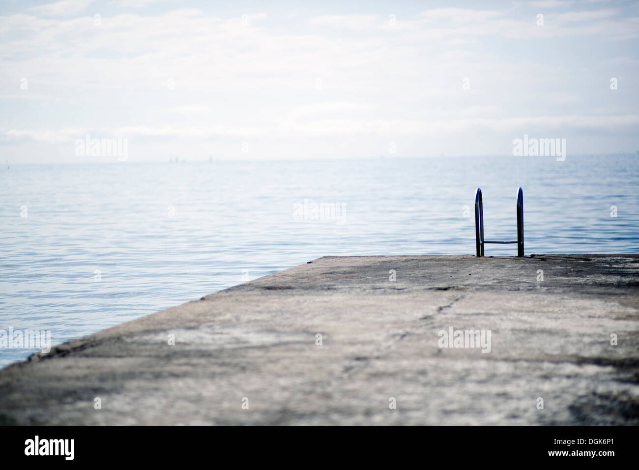 Jetty going in to the sea - Stock Image