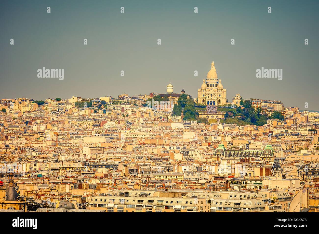 Sacre coeur, Montmartre, Paris - Stock Image