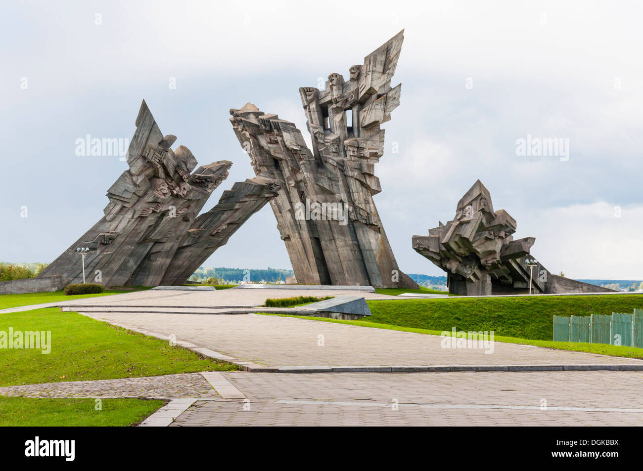 Ninth Fort Monument - Stock Image