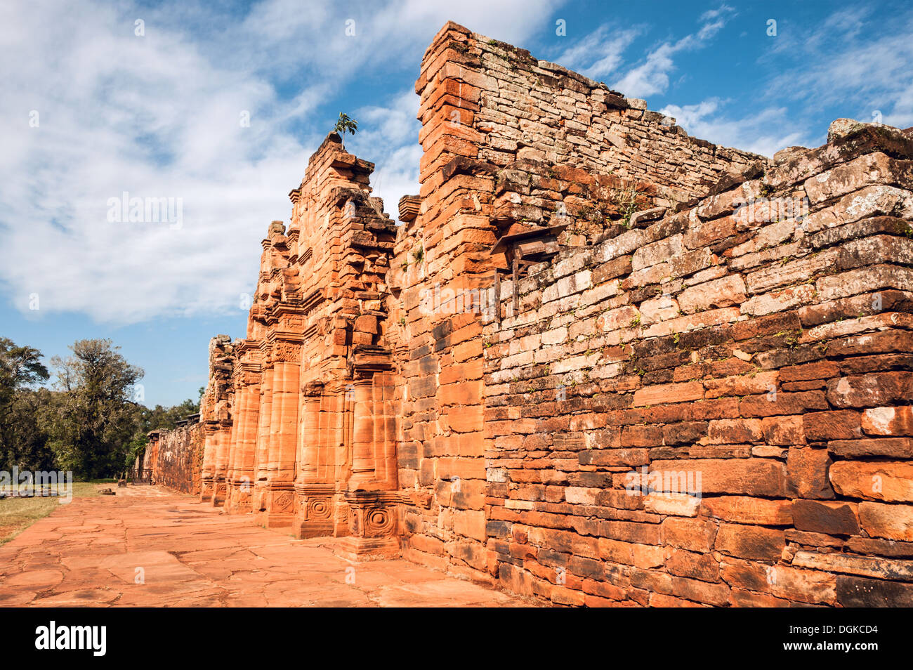 San Ignacio-Mini mission founded in 1632 by the Jesuits, Misiones Province, Argentina. - Stock Image