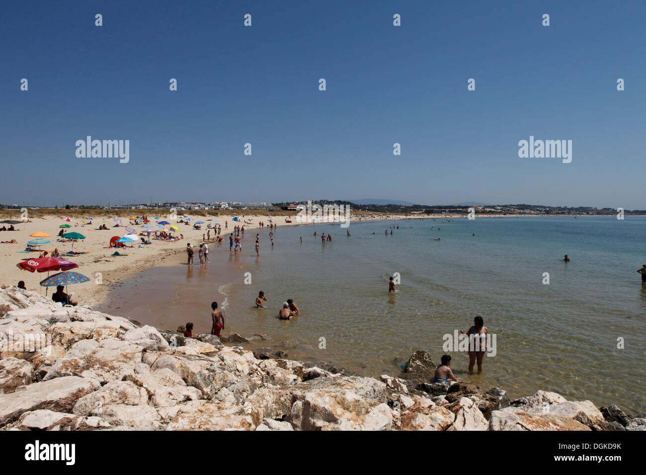 beach at lagos, algarve, portugal - Stock Image