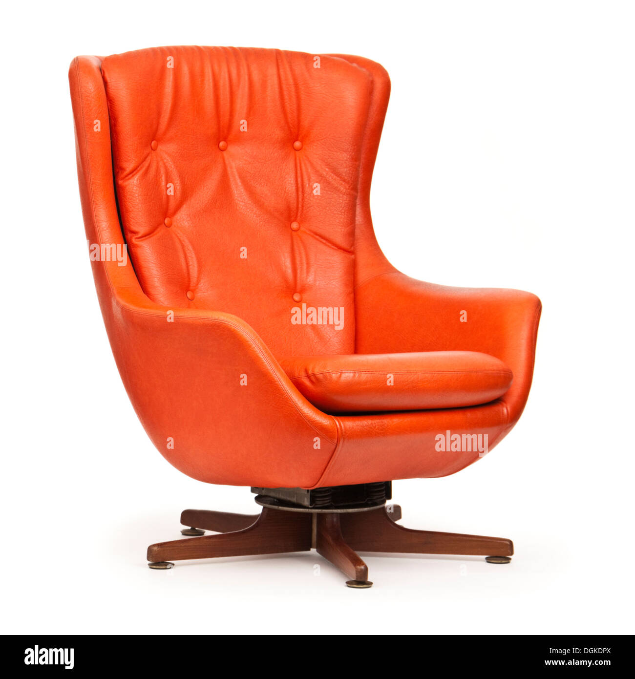 Vintage Orange Swivel And Tilt Armchair From The Late 1960u0027s / Early 1970u0027s