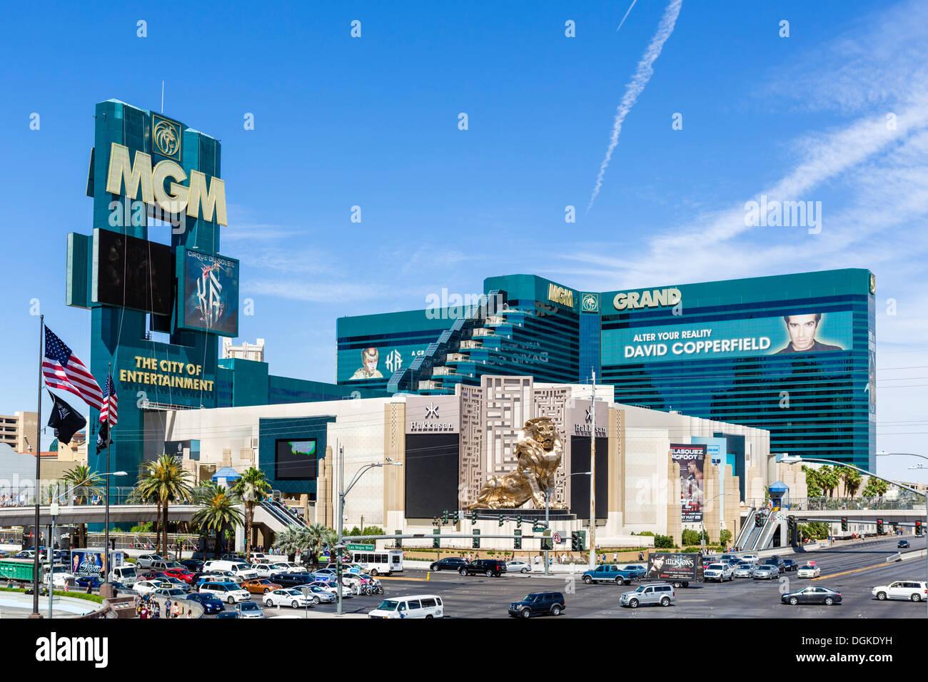 MGM Grand hotel and casino, Las Vegas Boulevard South ( The Strip ), Las Vegas, Nevada, USA - Stock Image