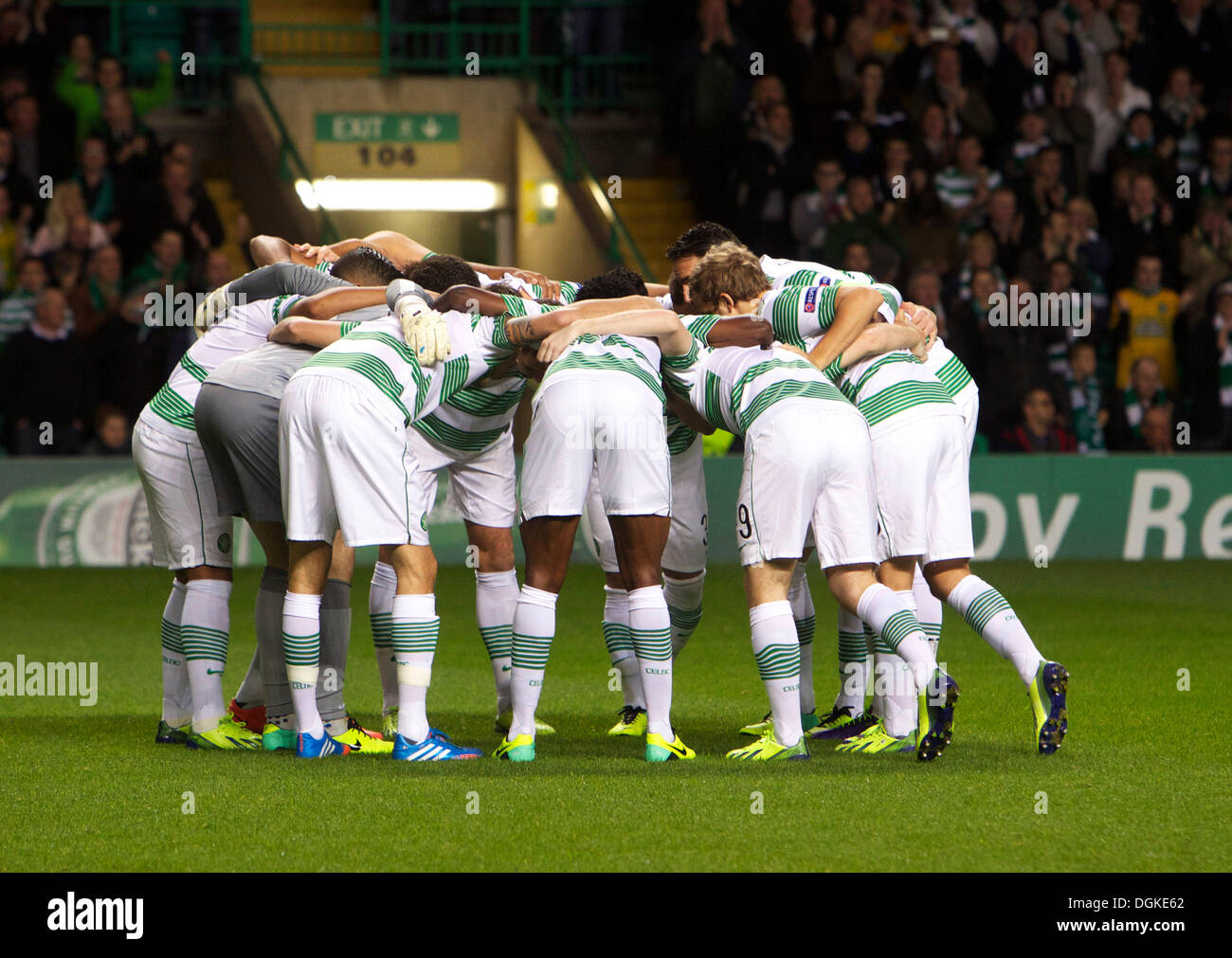 Celtic Huddle Football Stock Photos   Celtic Huddle Football Stock ... f8b005540