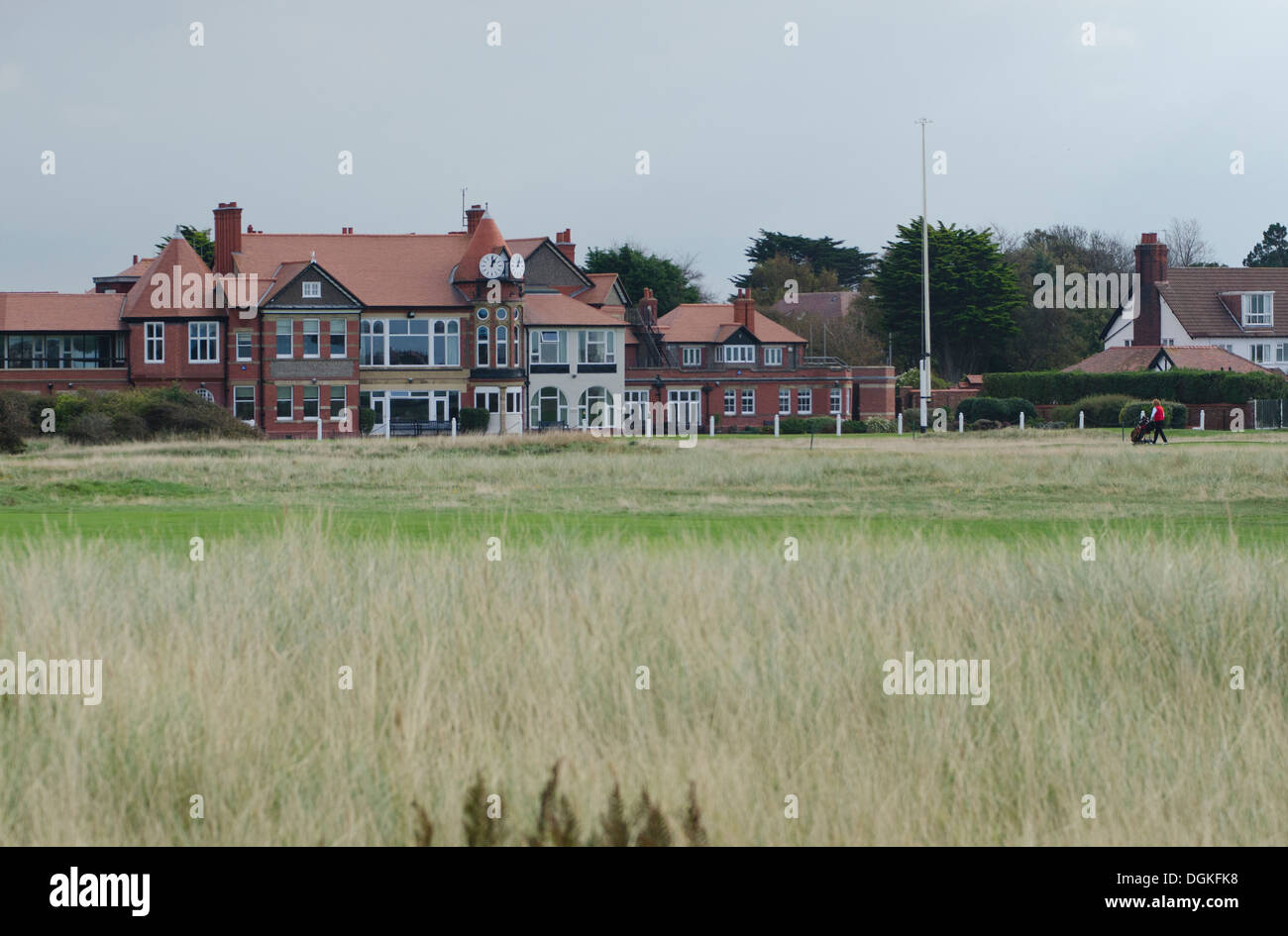 Clubhouse at Royal Liverpool Golf  Club in Hoylake. The Wirral town will host the 2014 Open Golf Championships. - Stock Image