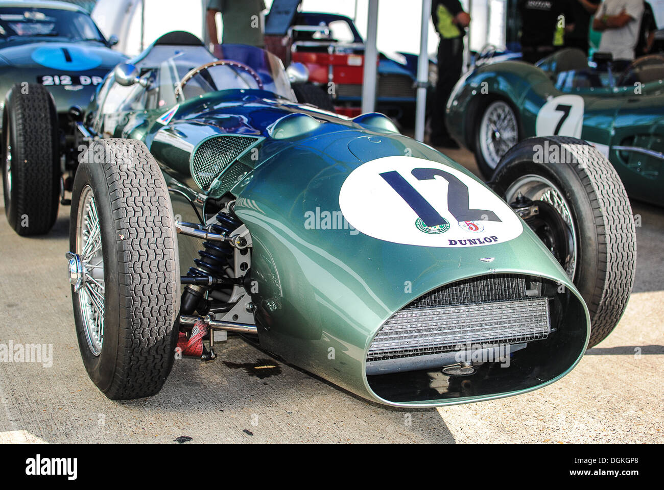 Aston Martin Classic Race Car At Silverstone Circuit Stock Photo Alamy