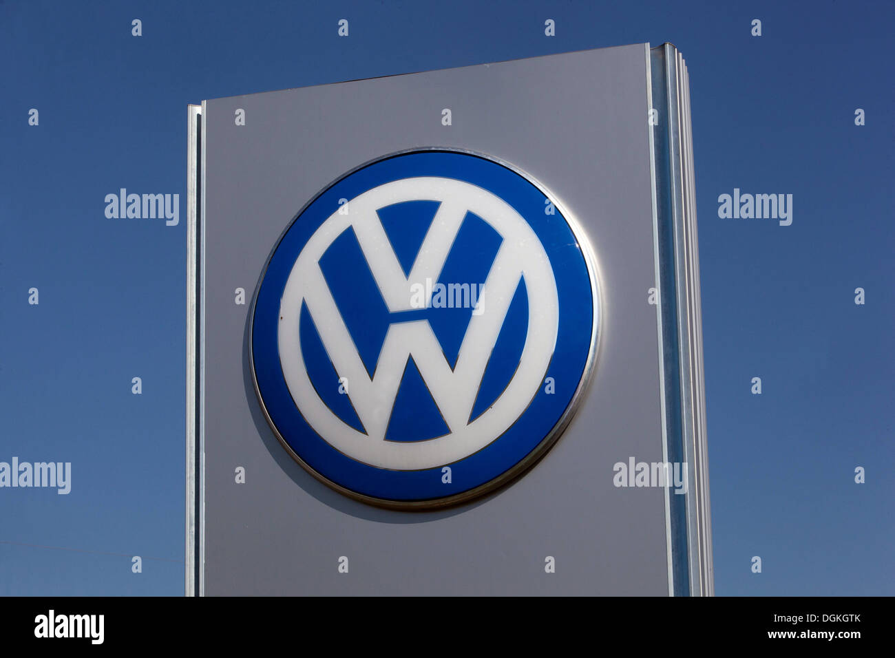 VW Logo Sign - Stock Image
