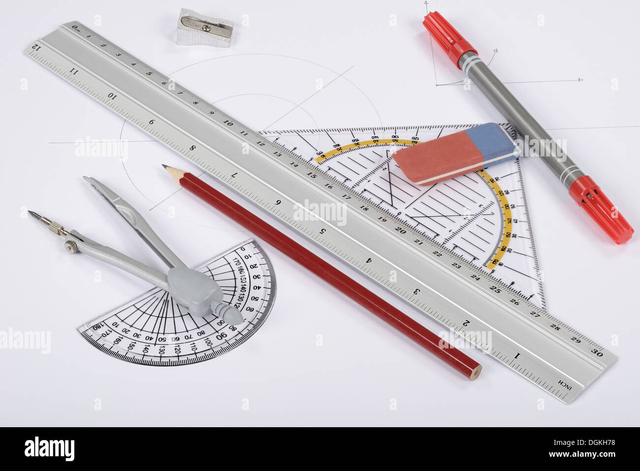 drawing tools homemade circle ruler triangle drawing tools stock photo 61896220 alamy