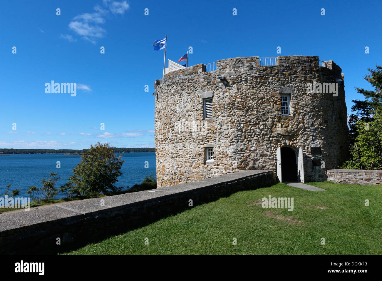 Fort William Henry, the Colonial Pemaquid State Historic Site Pemaquid, Maine Stock Photo