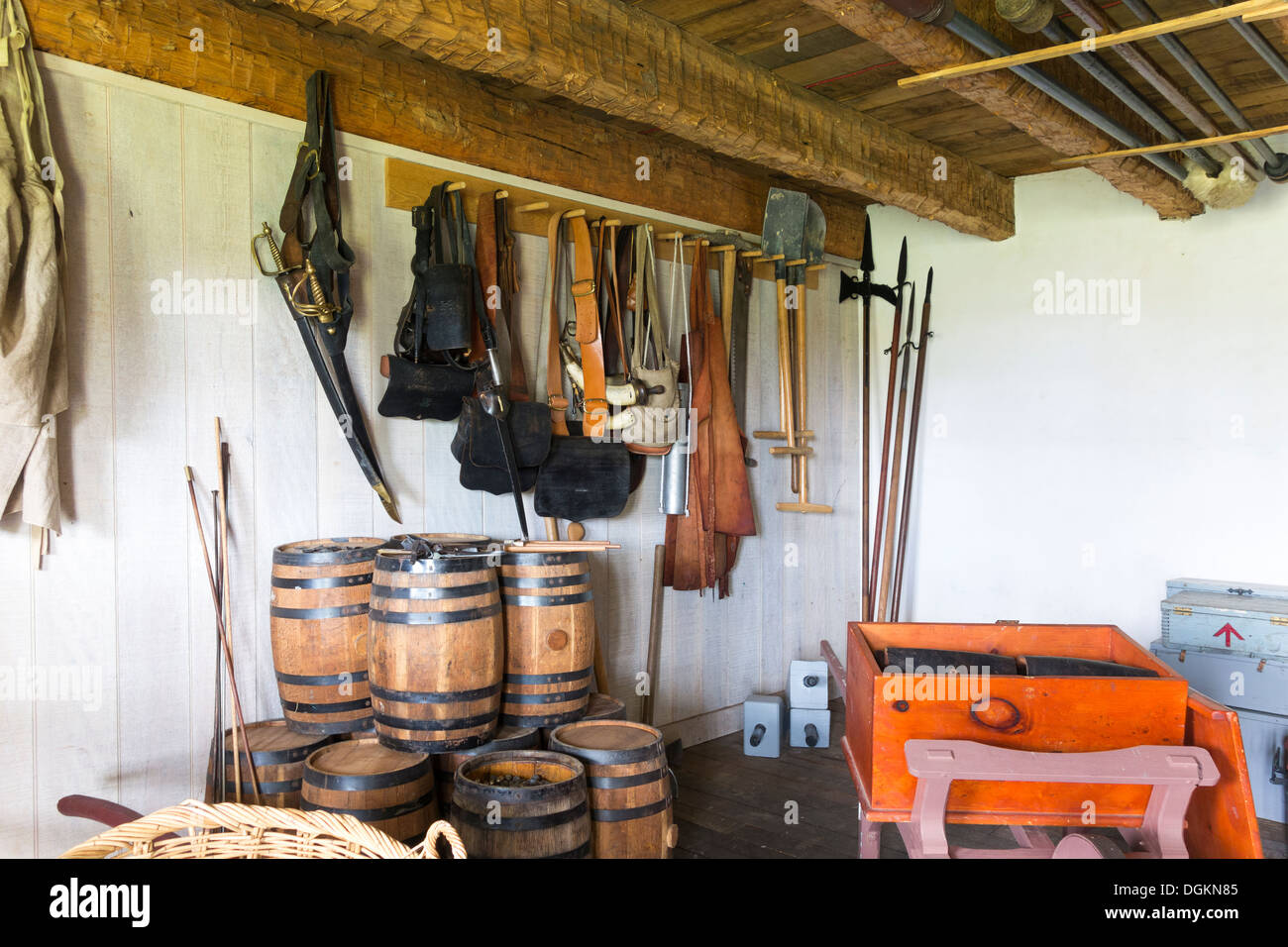 Store Storage Gun Powder Room Of Fort Frederick Maryland As In French  Indian; American Revolutionary War Of Independence