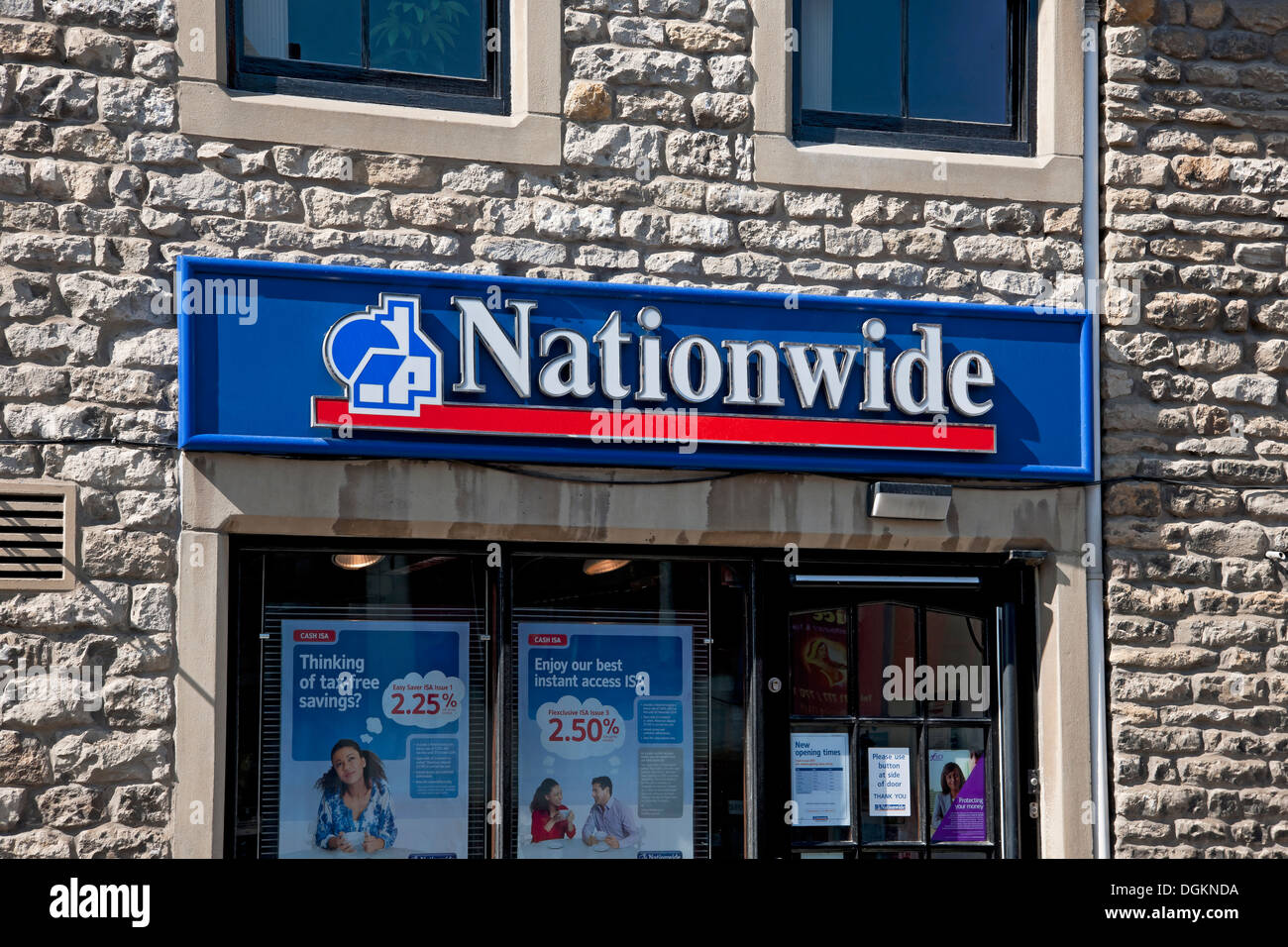 Nationwide Building Society branch in Yorkshire. - Stock Image