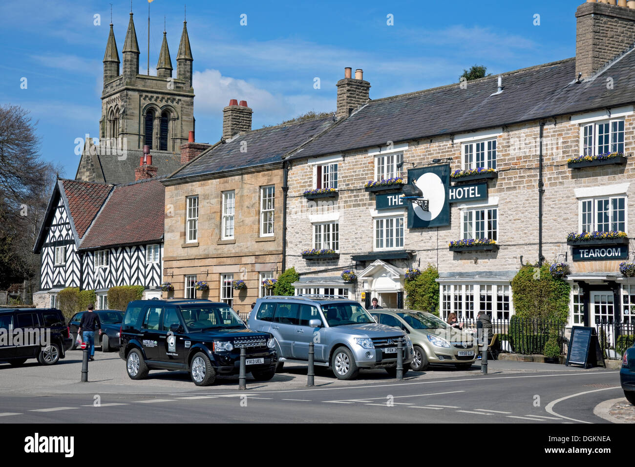 The Black Swan Hotel in Helmsley. - Stock Image