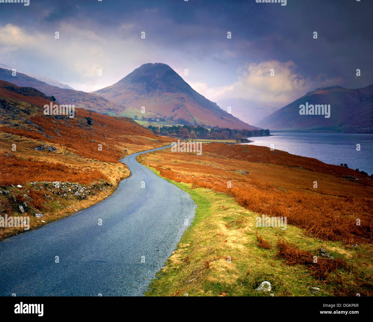 A winter's view along Wast Water. - Stock Image