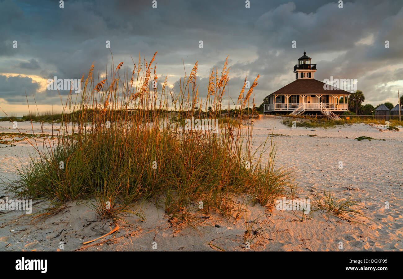 A view up from the beach at Boca Grande on Gasparilla Island in southwest Florida. - Stock Image