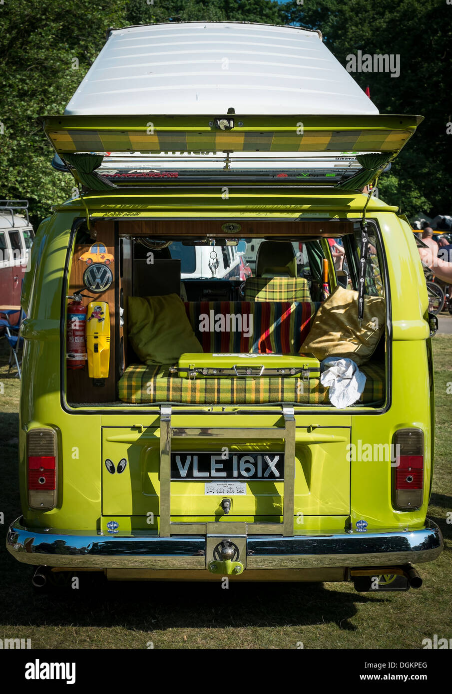 A vehicle on display at the Dubs At The Hall VW festival. - Stock Image