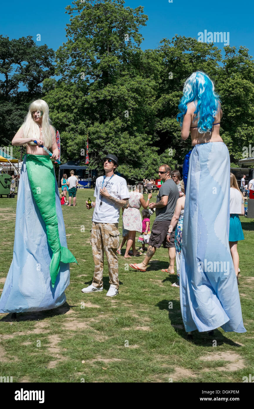 Mermaids at the Dubs At The Hall VW festival. - Stock Image