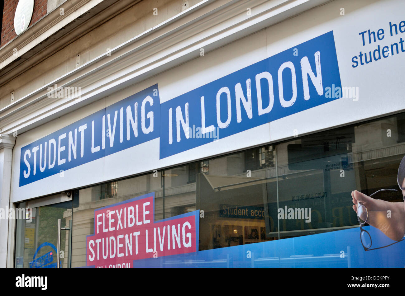 Unite Student Living in London letting agent on Southampton Row. - Stock Image