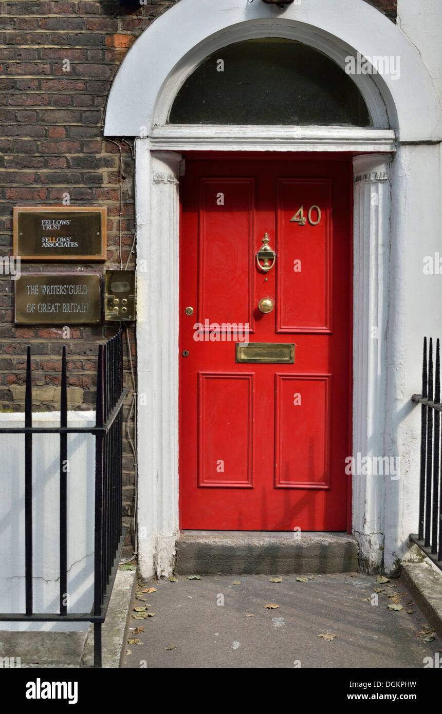 Writers Guild of Great Britain headquarters on Rosebery Avenue. - Stock Image