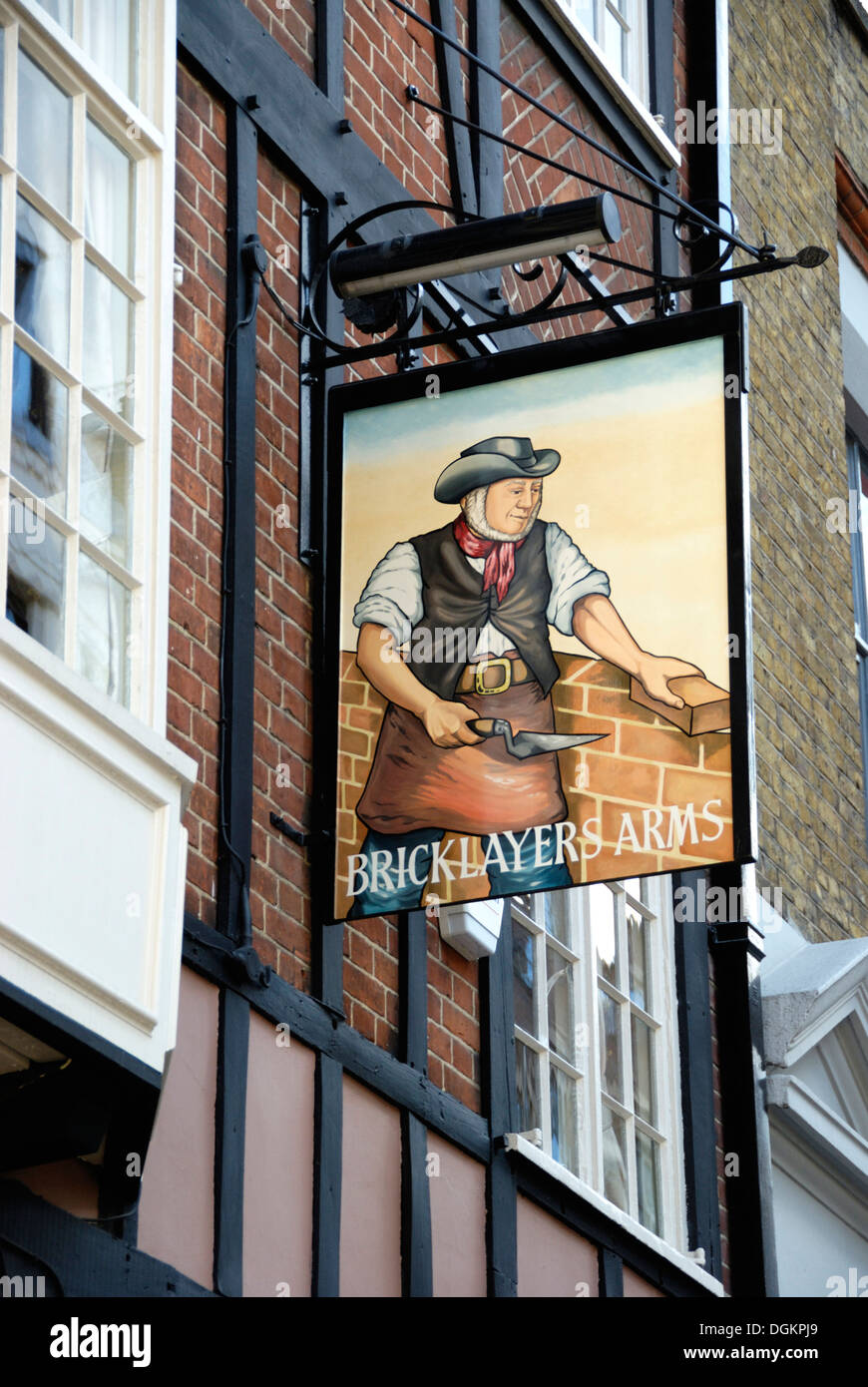 Bricklayers Arms pub in Gresse Street off Tottenham Court Road. - Stock Image